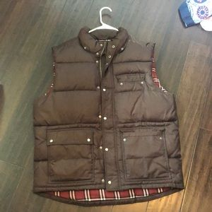 Brown puffy vest